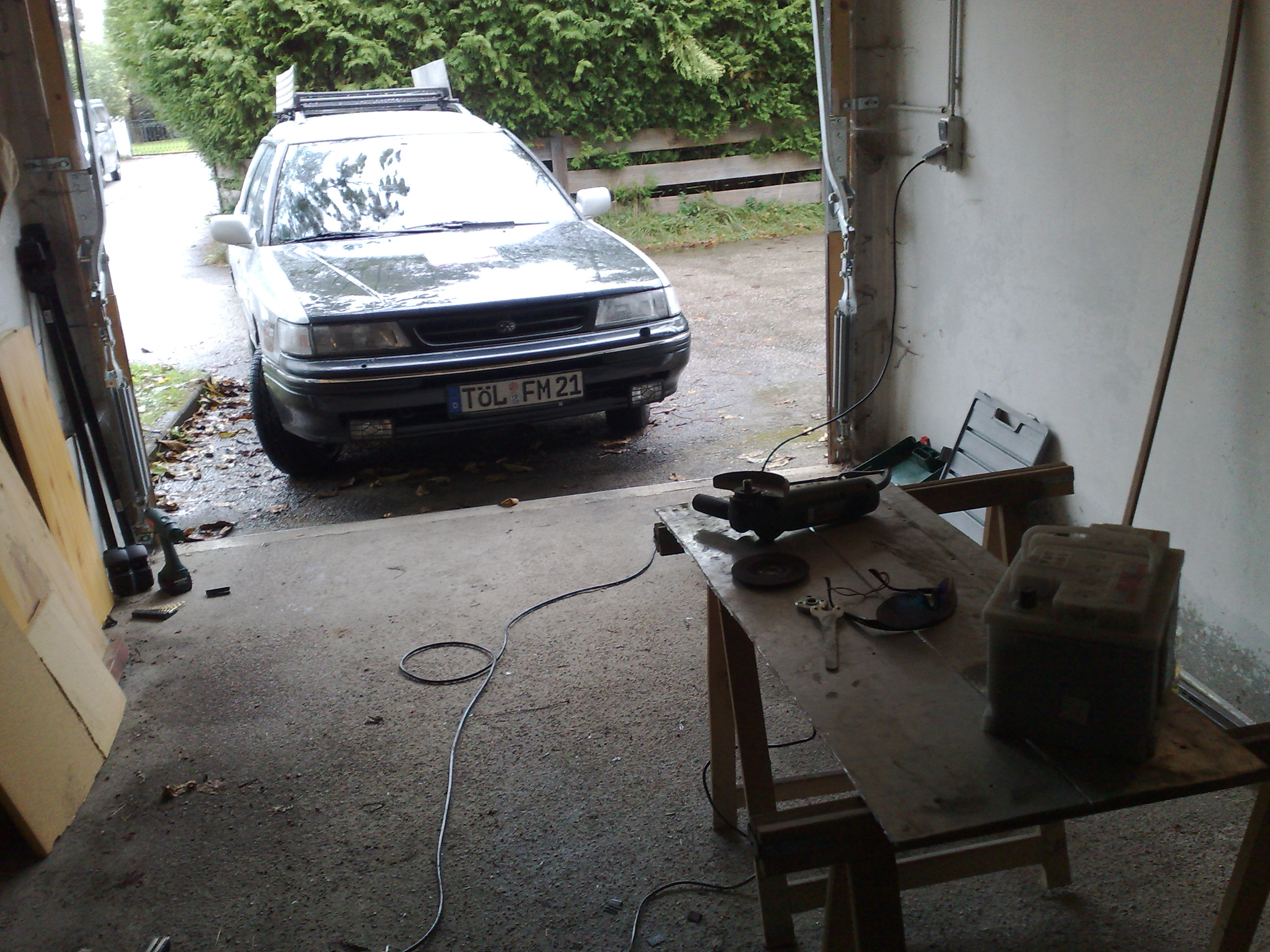 Flexen in der Garage