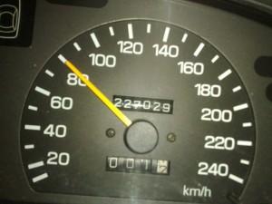 Unser Startkilometerstand - 227029 km
