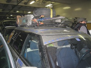 Subaru im Bauch der Fähre