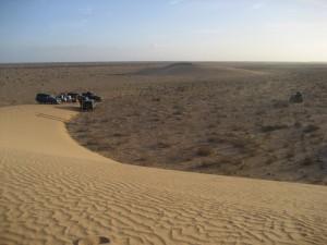 Erste Übernachtungsdüne in der Westsahara