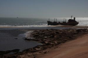 Schiffswrack im Nationalpark