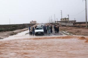 Überflutete Straße (am nächsten Tag)