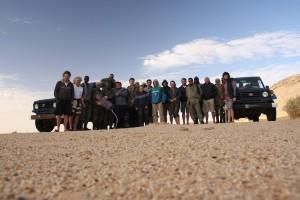 Gruppenbild mit dem Militär