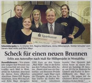 Artikel im Tölzer Kurier am 08.12.2010